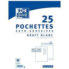 Match Buste Autoadesive, Confezione Da 50, Colore: Bianco