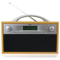 DAB 200 Portatile Digitale Nero, Grigio, Legno radio