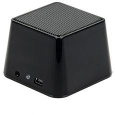 Altoparlante Mini Portatile Bluetooth & Jacl 3.5mm Nero
