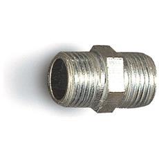 Niples Doppio Filetto In Ferro Zincato, Niples Doppio Filetto M1/8'' Esagono Di Separazione In Ferro Zincato