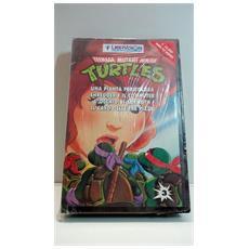 """Videocassetta Vhs - Ninja Turtles - Tartarughe Ninja - """"una Pianta Pericolosa"""" - """"shredder E Il Computer"""" - """"l'occhio Di Sarnoth"""" - """"ilcaso Delle Tre Pizze"""""""