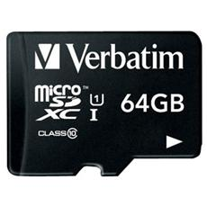 MicroSDXC UHS-I da 64 GB Class 10