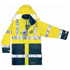 Parka Alta Visibilità Goodyear In Poliestere Oxford Traspirante Colore Giallo E Blu Taglia Xs