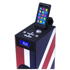 Interactive TW5 - Union Jack, 2.1, 20W, 3,5 mm, Apple 30-pin, USB A, LCD
