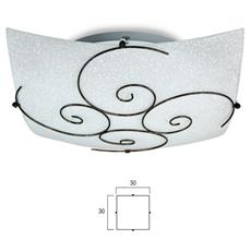 I-070207-4 - Plafoniera bianca con decoro dalla forma a spirale 60 watt E27
