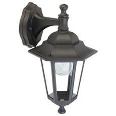 Applique in basso mini esagonale lampada classica da esterno 6pz nero