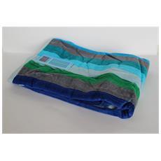 Asciugamano Telo Mare 100% Cotone Stripes Turquoise 70x140 Cm 6220491701413-479