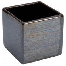 Portaspazzolino in ceramica color fango linea Cuba
