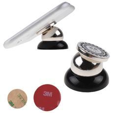 Supporto Universale Con Magnete Sferico Da Auto Per Smartphone E Tablet Nero Con Adesivo