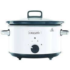 CROCKPOT - Slow Cooker Pentola Per Cottura Lenta Capienza 3,5 Litri Colore Bianco