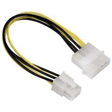 """Power adapter PCI express plug - 5,25"""" plug Giallo cavo di interfaccia e adattatore"""