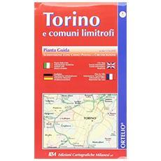 Torino e comuni limitrofi. Pianta guida 1:16.000 con codici postali