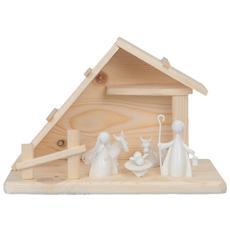 Natale Presepe Capanna con 5 Figure 32 x 18 x 20 cm