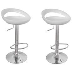 Sgabelli Cucina O Bar Maiorca Design Plastica Abs, 2, bianchi