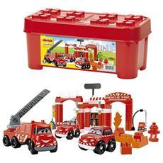 ECF7600001396 Abrick Bauletto dei Pompieri, con 3 veicoli