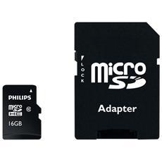 Mem. Micro Sd 16gb Cl. 10 C / Adattatore Sd