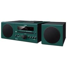 Sistema Micro Hi-Fi MCR-B043 Lettore CD Supporto MP3 / WMA Potenza Totale 30Watt Bluetooth USB colore Verde Scuro