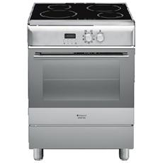Cucina Elettrica H6IMAACX 4 Zone Cottura a Induzione Forno Elettrico Ventilato Classe A Dimensioni 60 x 60 cm Colore Inox
