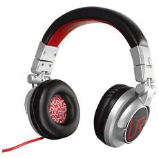 Cuffie con Microfono Cablato Rimix Colore Rosso Grigio