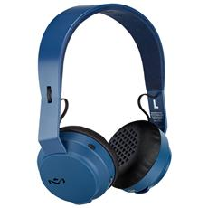 "Rebel, Circumaurale, Padiglione auricolare, Bluetooth + 3.5 mm (1/8"") , Nero, Blu, 15 - 22000 Hz, A2DP"