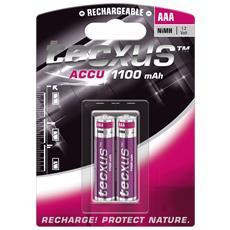 IBT-K1100-B2 - Blister 2 Batterie Ricaricabili AAA Mini Stilo HR03 1100mAh
