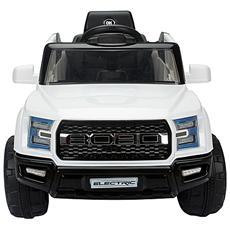 Macchinina Elettrica Modello Jeep Per Bambini Bianco 111x63x57cm