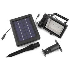 Lampada Da Esterno / parete 30 Led 400lm Super Luminoso, Impermeabile, Luce Bianca, A Energia Solare, Conl Sensore Automatico Attiva Crepuscolare