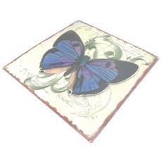 decorazione di interni parete 'papillons muraux' blu beige (in metallo) - [ i3424]