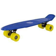 Skateboard Mini (57 X 15 X 12 Cm) (abec 7 - Cuscinetti A Sfera) (blu - Giallo) Skateboard Per Bambini / Tavola Vintage Penny