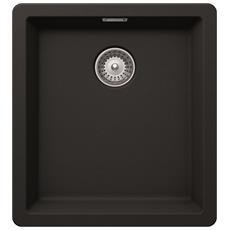 Lavello BYKN100SA14 1 Vasca Dimensioni 40x45 cm colore Nero Mat serie Brooklyn