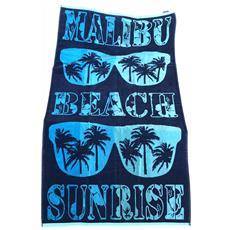 Asciugamano Telo Mare 100% Cotone Malibu' Beach Sunrise 90x170cm 8054615452244