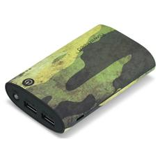 Power Bank Tank Batteria Esterna 7200 mAh - Camouflage