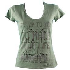T-shirt Donna Fiammata Stampa Verde M