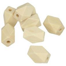Perline Poligonali In Legno, 10,6x15,8mm, 8 Mm