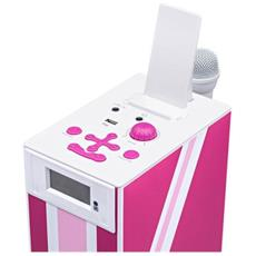 Interactive Tower TW5 - Union Jack, 2.1, 20W, 3,5 mm, LCD, Blu, Rosa