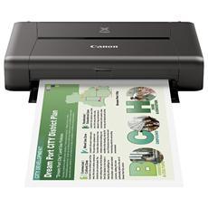 Pixma iP110 Stampante Inkjet a Colori A4 9 Ppm (B / N) 5.8 Ppm (Colore) Usb Wi-Fi con Batteria