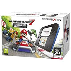 Console 2DS HW Nero+Blu+ Mario Kart 7