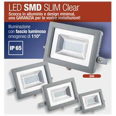 Faretto Da Esterno Wiva 91100411 Led Slim 50 W Floodlight Smd Slim Clear Ip 65 4000k