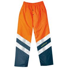 Pantalone Ad Alta Visibilità Goodyear In Poliestere Oxford Colore Arancio E Blu Taglia S