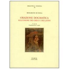 Orazione dogmatica sull'unione dei greci e dei latini