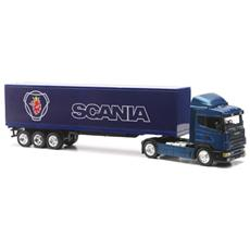 DieCast 1:43 Camion Scania R124/400 40 Container Blu 15513