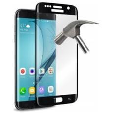 """Pellicola Protettiva in Vetro Temperato per Galaxy S7 Edge 5.5"""" Nero"""