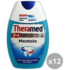 Set 12 Theramed Dentifricio + Colluttorio Mentolo Prodotti Per Il Viso