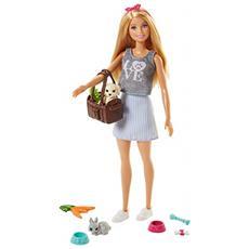 Barbie - Bambola Con Cuccioli Giocattolo Per Bambini 3+ Anni, Fpr48