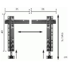 Universal Fixed Wall Mount Ultra-thin Nero supporto da parete per tv a schermo piatto