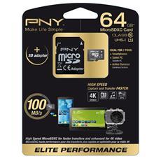 MicroSD 64 GB Elite Performance Classe 10 fino a 100MB / S di Velocità