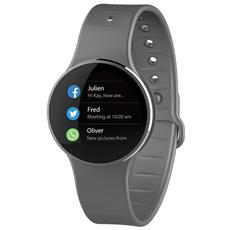 Smartwatch Zecircle 2 Mykronoz Activity Tracker In Alluminio In Grado Di Visualizzare L'ora E Memorizzare I Passi La Distanza E Le Calorie Bruciate Colore Grigio