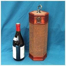 box bottiglia 'bacchus' marrone / marrone - [ c6252]