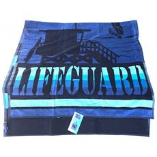 Asciugamano Telo Mare 100% Cotone Lifeguard 95x175cm 6220491950101
