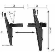 Universal Tilt Wall Support Nero supporto da parete per tv a schermo piatto